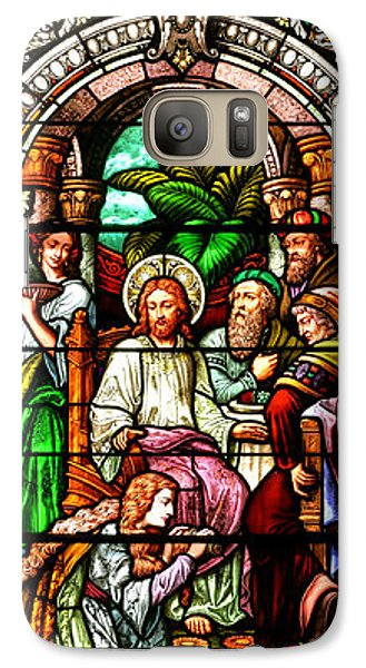 Galaxy Case featuring the photograph Stained Glass Scene 11 by Adam Jewell