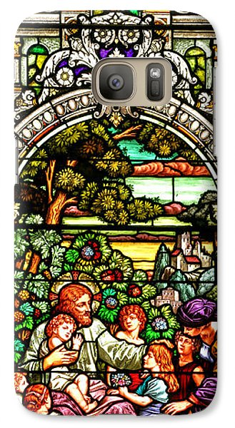 Galaxy Case featuring the photograph Stained Glass Scene 12 by Adam Jewell