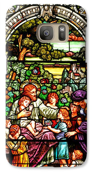 Galaxy Case featuring the photograph Stained Glass Scene 12 Crop by Adam Jewell