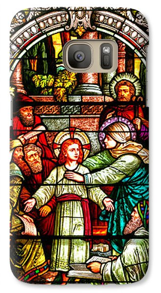 Galaxy Case featuring the photograph Stained Glass Scene 3 by Adam Jewell