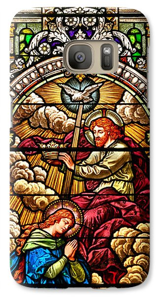 Galaxy Case featuring the photograph Stained Glass Scene 7 Crops by Adam Jewell
