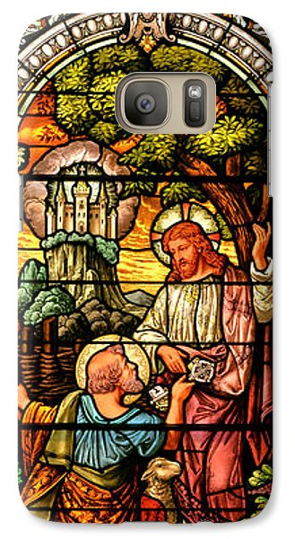 Galaxy Case featuring the photograph Stained Glass Scene 9 by Adam Jewell