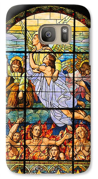 Galaxy Case featuring the photograph Stained Glass Window by Elizabeth Budd