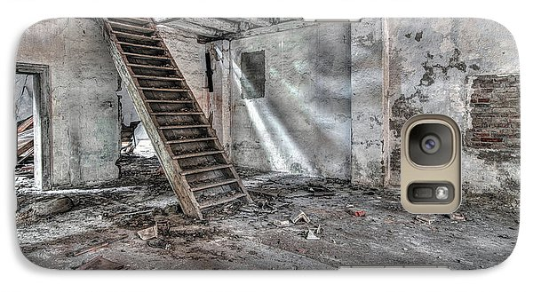 Galaxy Case featuring the photograph Stair In Old Abandoned  Building by Michal Boubin