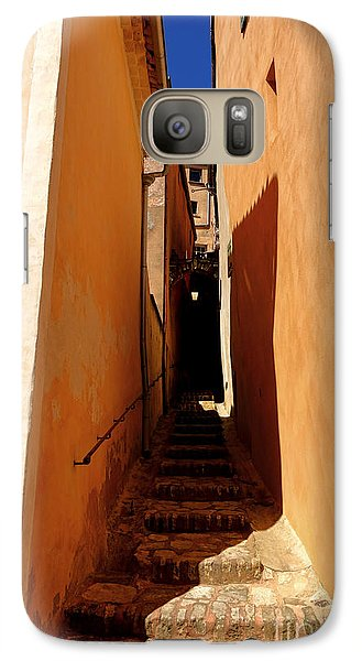 Galaxy Case featuring the photograph Stairs In Roussillon by Olivier Le Queinec