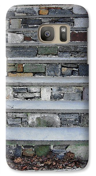 Galaxy Case featuring the photograph Stairs To The Plague House by RC DeWinter