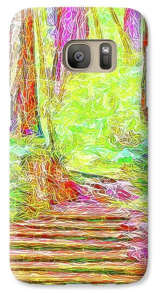 Galaxy Case featuring the digital art Stairway Through The Redwoods - Tamalpais California by Joel Bruce Wallach