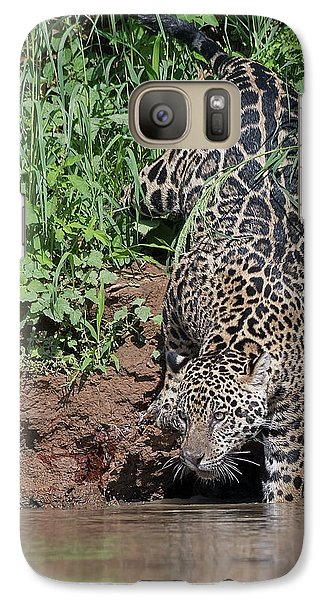 Galaxy Case featuring the photograph Stalking Jaguar by Wade Aiken