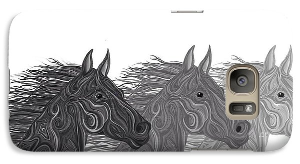 Galaxy Case featuring the drawing Stallions Shades by Nick Gustafson