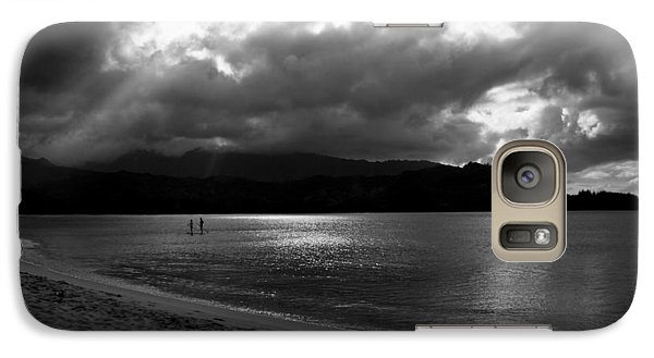 Galaxy Case featuring the photograph Stand Up Paddlers In Stormy Skies by Lennie Green