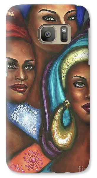 Galaxy Case featuring the pastel Stand With Me by Alga Washington