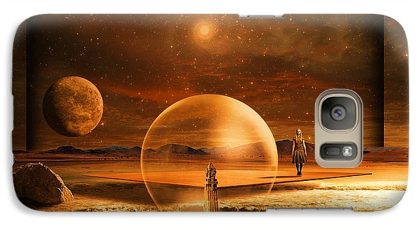 Galaxy Case featuring the digital art Standing In Time by Franziskus Pfleghart