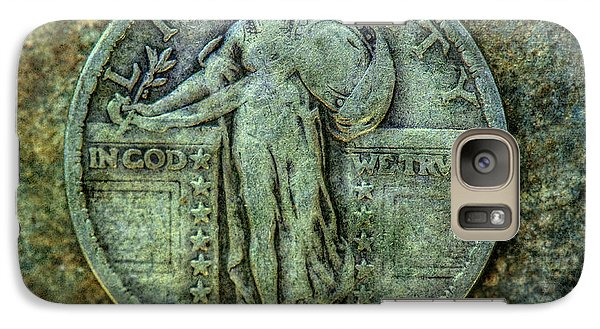 Galaxy Case featuring the digital art Standing Libery Quarter Obverse by Randy Steele