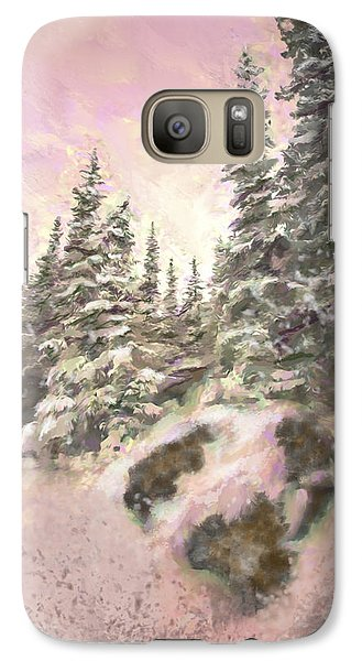 Galaxy Case featuring the painting Standing Tall by Annette Berglund