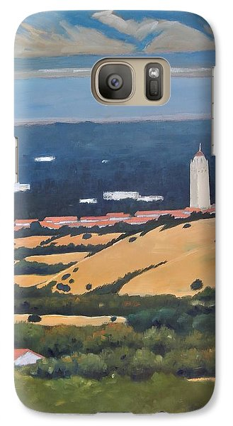 Galaxy Case featuring the painting Stanford From Hills by Gary Coleman
