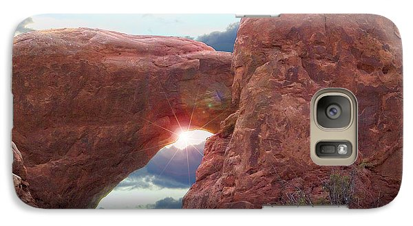 Galaxy Case featuring the digital art Star Arch by Gary Baird