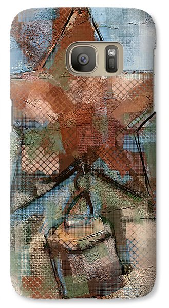 Galaxy Case featuring the mixed media Star Bell by Carrie Joy Byrnes