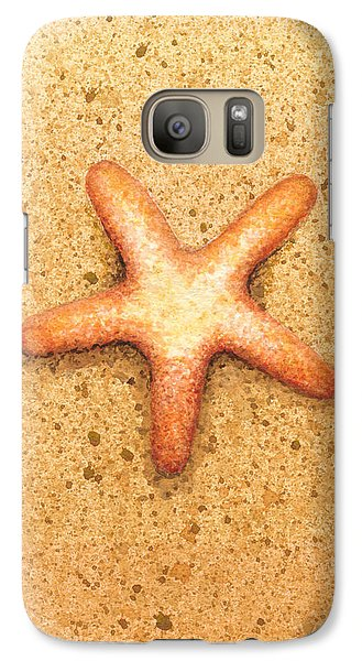 Galaxy Case featuring the painting Star Fish by Katherine Young-Beck
