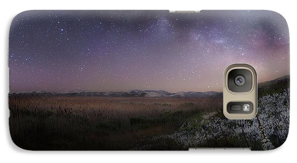 Galaxy S7 Case featuring the photograph Star Flowers Square by Bill Wakeley