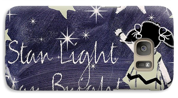 Star Light Star Bright Chalk Board Nursery Rhyme Galaxy S7 Case