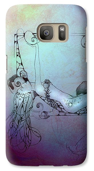 Galaxy Case featuring the painting Star Mermaid by Ragen Mendenhall
