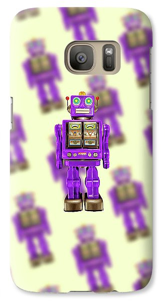 Galaxy Case featuring the photograph Star Strider Robot Purple Pattern by YoPedro