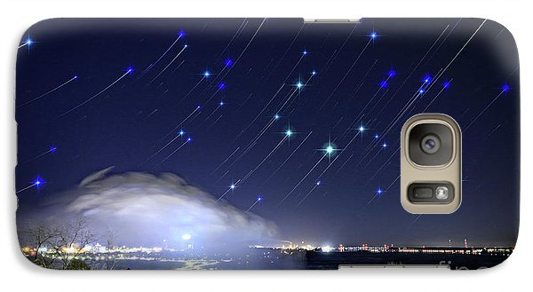 Galaxy Case featuring the photograph Star Trails Over Niagara River by Charline Xia