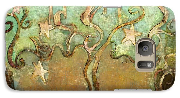 Galaxy Case featuring the tapestry - textile Star Tree by Carrie Joy Byrnes