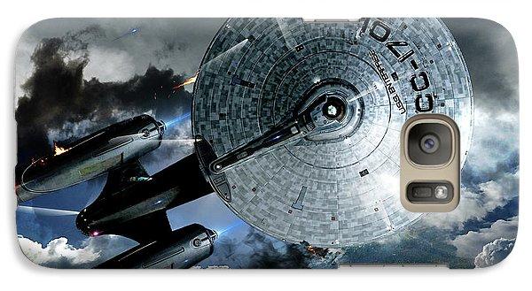 Star Trek Into Darkness, Original Mixed Media Galaxy S7 Case by Thomas Pollart