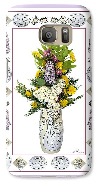 Galaxy Case featuring the photograph Star Vase With A Bouquet From Heaven by Lise Winne