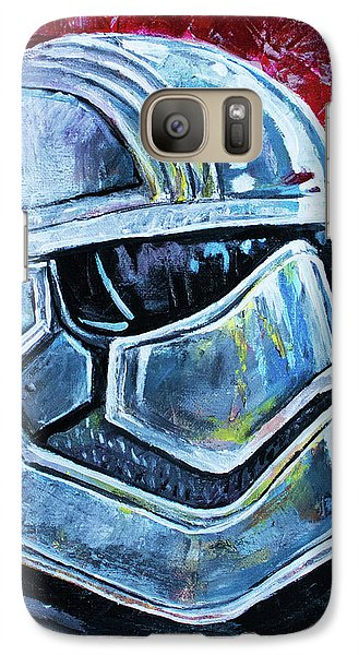 Galaxy Case featuring the painting Star Wars Helmet Series - Captain Phasma by Aaron Spong