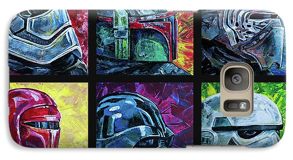 Galaxy Case featuring the painting Star Wars Helmet Series - Collage by Aaron Spong
