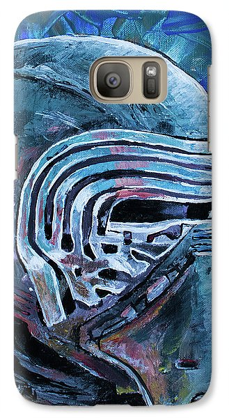 Galaxy Case featuring the painting Star Wars Helmet Series - Kylo Ren by Aaron Spong