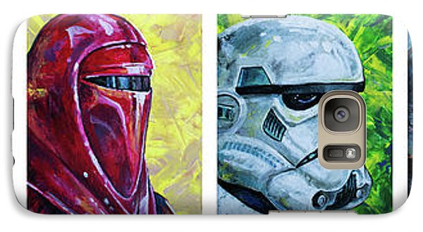Galaxy Case featuring the painting Star Wars Helmet Series - Panorama by Aaron Spong