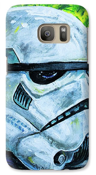Galaxy Case featuring the painting Star Wars Helmet Series - Storm Trooper by Aaron Spong