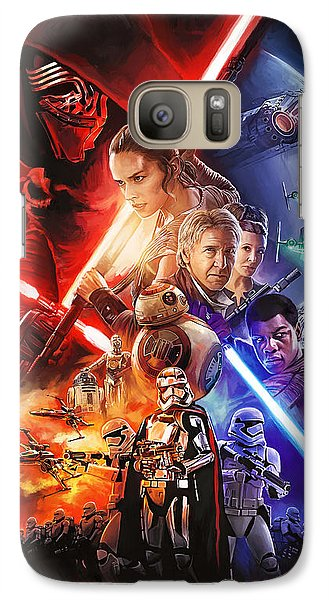 Galaxy Case featuring the painting Star Wars The Force Awakens Artwork by Sheraz A