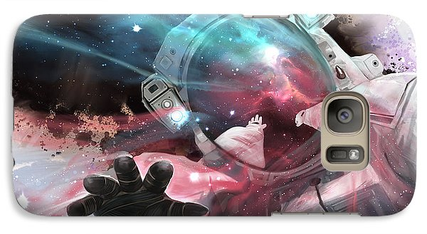Galaxy Case featuring the digital art Stardust by Steve Goad