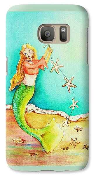 Galaxy Case featuring the painting Starfish Mermaid by Patricia Piffath