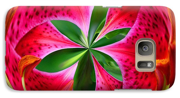 Galaxy S7 Case featuring the photograph Stargazer Lily Orb by Bill Barber