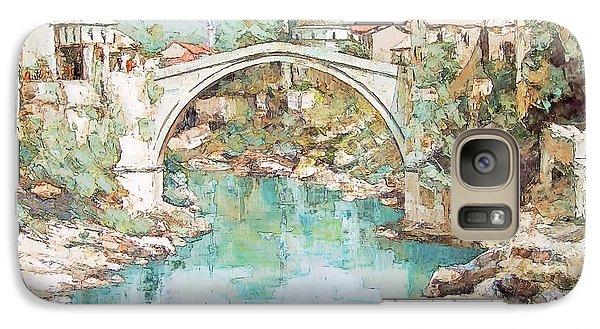 Galaxy Case featuring the photograph Stari Most Bridge Over The Neretva River In Mostar Bosnia Herzegovina by Joseph Hendrix