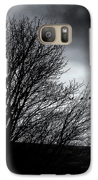 Starlings Roost Galaxy Case by Philip Openshaw