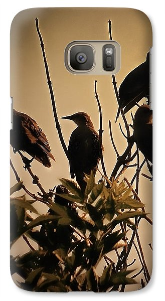 Starlings Galaxy Case by Sharon Lisa Clarke