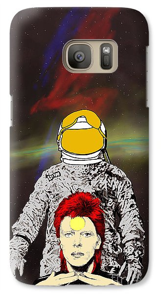 Galaxy Case featuring the drawing Starman Bowie by Jason Tricktop Matthews