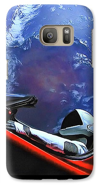 Starman In Tesla With Planet Earth Galaxy S7 Case