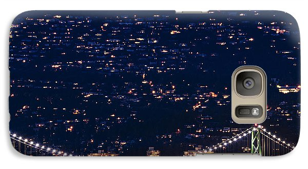 Galaxy Case featuring the photograph Starry Lions Gate Bridge - Mdxxxii By Amyn Nasser by Amyn Nasser