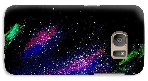 Galaxy Case featuring the painting Starry Night 2 by Scott Wilmot