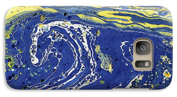 Galaxy Case featuring the painting Starry Night Abstract by Menega Sabidussi