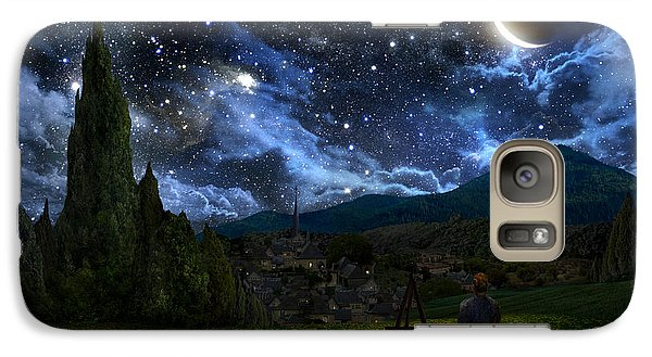 Starry Night Galaxy S7 Case by Alex Ruiz