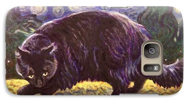 Galaxy Case featuring the painting Starry Night Stroll by Laura Aceto