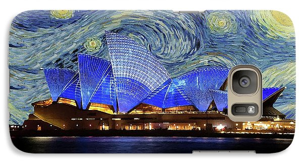 Galaxy Case featuring the painting Starry Night Sydney Opera House by Movie Poster Prints